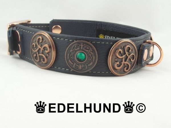 """Luxus Hundehalsband aus Leder """"Rodin"""""""