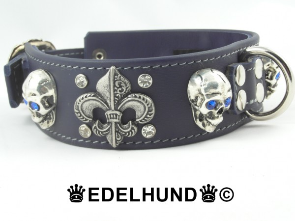 "Exklusives Hundehalsband mit Totenkopf ""Rockstar"""