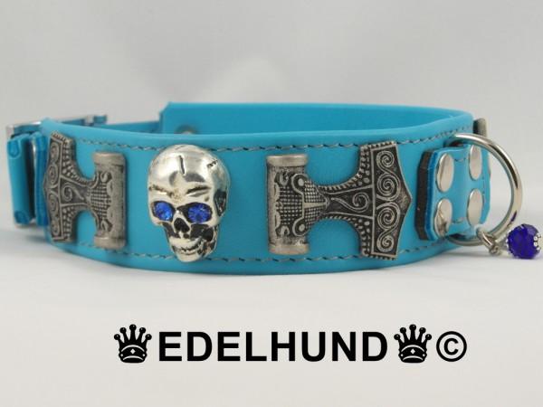 """Exklusives Hundehalsband aus Leder """"Thor Turquoise"""""""
