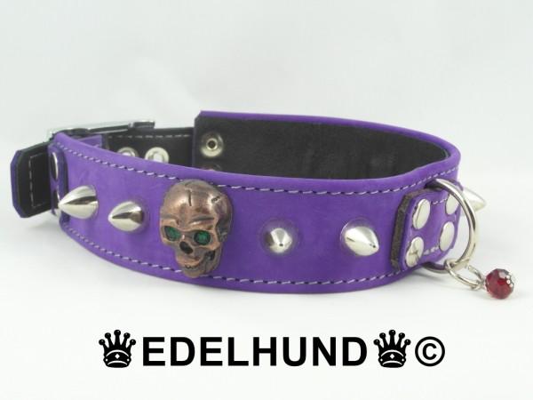 "Totenkopf Hundehalsband ""Spike Skull"""