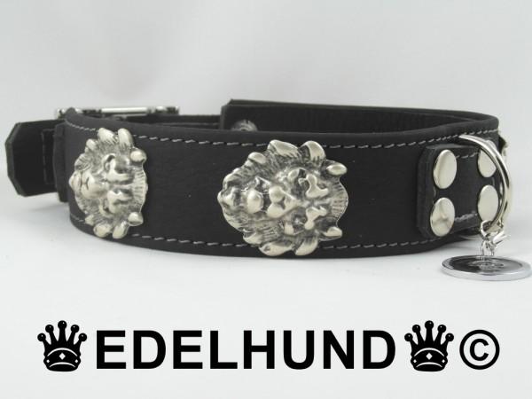 "Exklusives Hundehalsband aus Leder ""Pure Lion"""