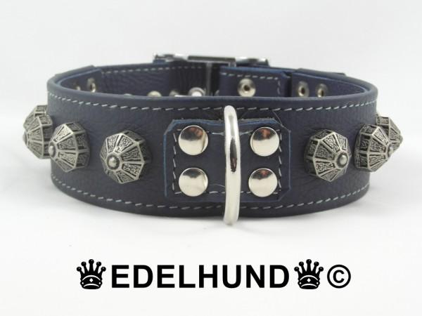 "Exklusives Hundehalsband aus Leder ""Blue Knight"""