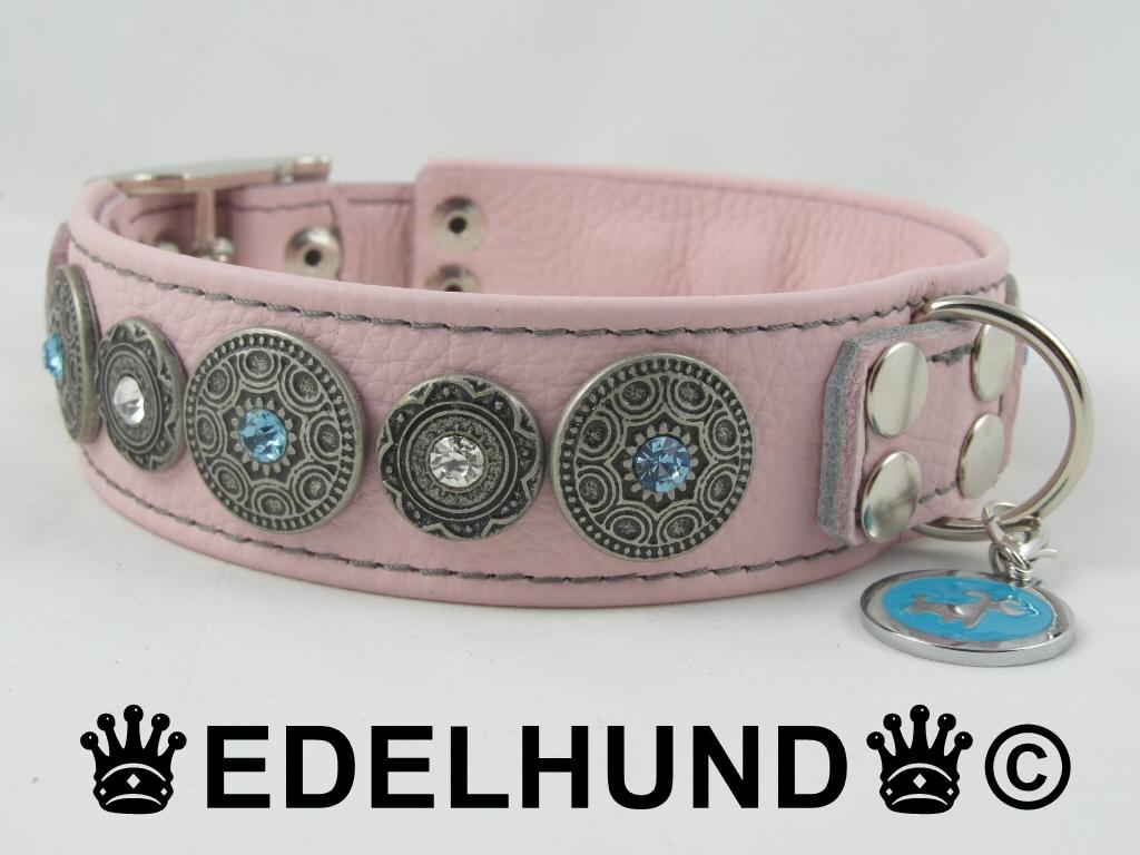 Rosa Luxus Hundehalsband