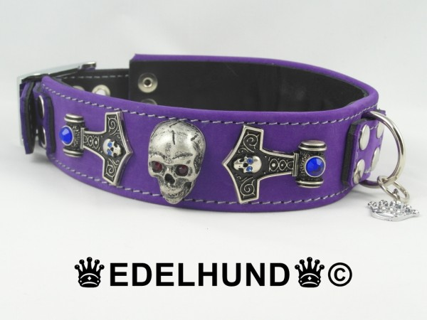 "Exklusives Hundehalsband aus Leder ""Violet Thor"""