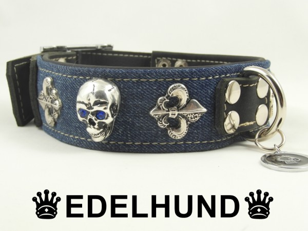 "Exklusives Hundehalsband Denim ""Denim Devil"""