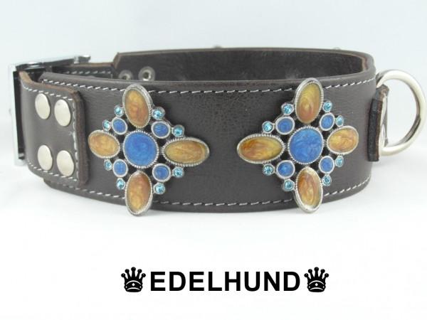 "Luxus Hundehalsband aus Leder ""Brown Sensation"""