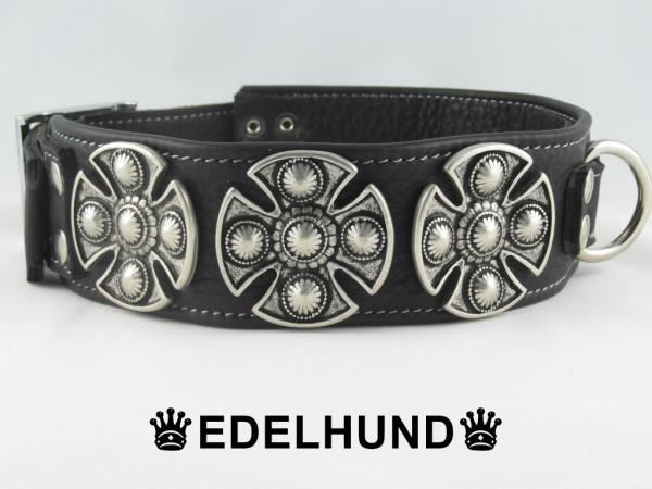 """Breites Hundehalsband aus Leder """"Celtic Warrior"""""""