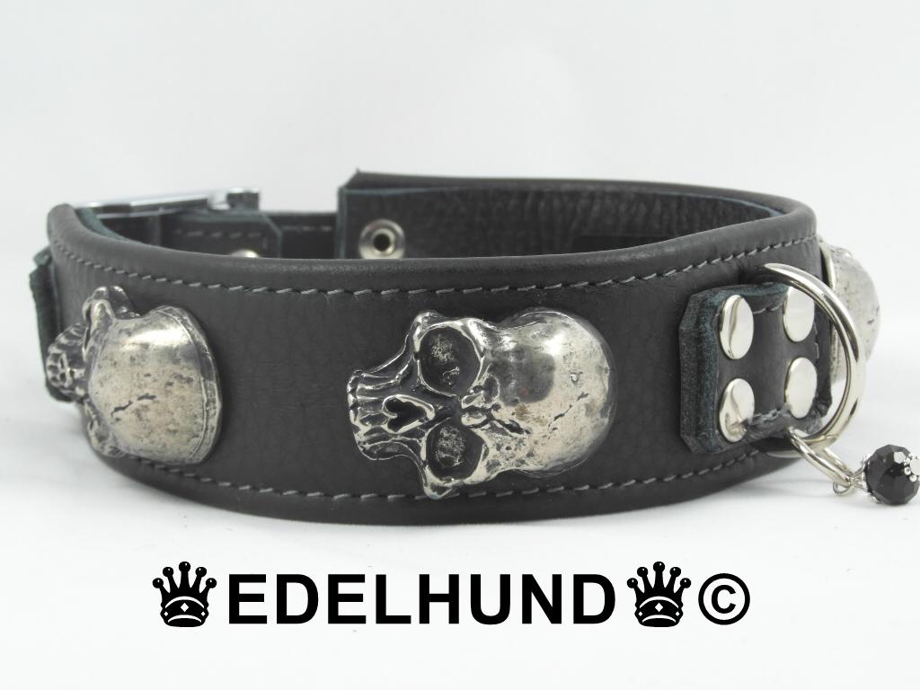 Exklusives Totenkopf Hundehalsband