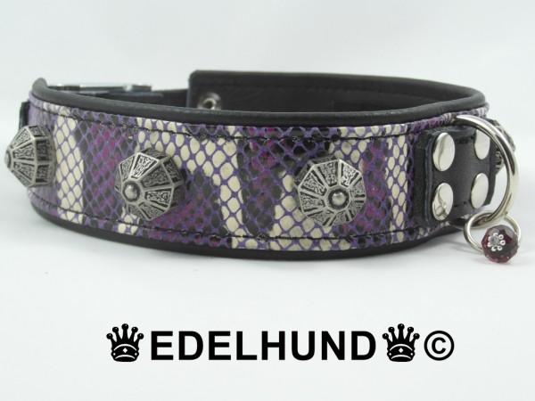 """Luxus Hundehalsband aus Leder """"Snake Deluxe"""""""