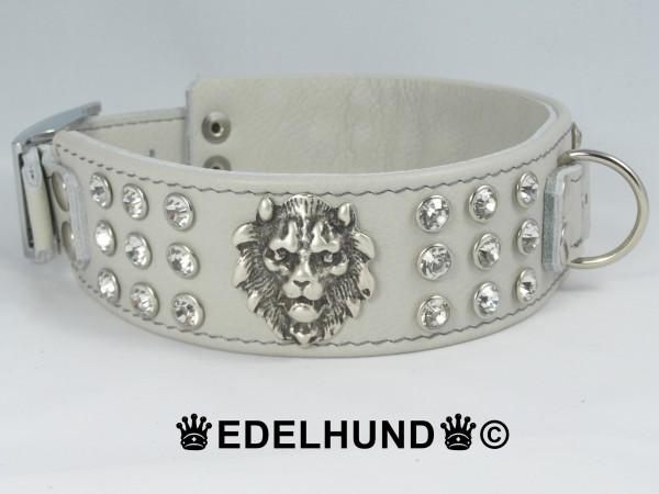 "Exklusives Strass Hundehalsband ""Lion Star"""