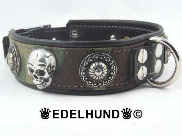 """Luxus Hundehalsband aus Leder """"Camouflage"""""""