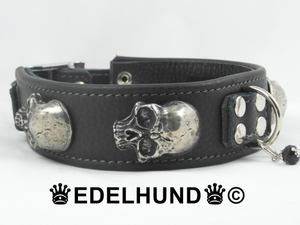 "Exklusives Totenkopf Hundehalsband ""Massive Skull"""