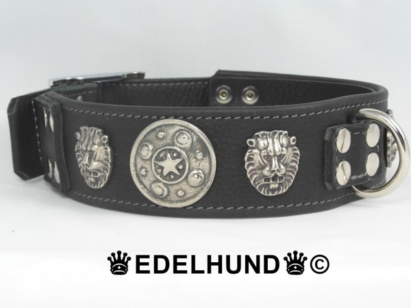 "Exklusives Hundehalsband aus Leder ""Lion"""