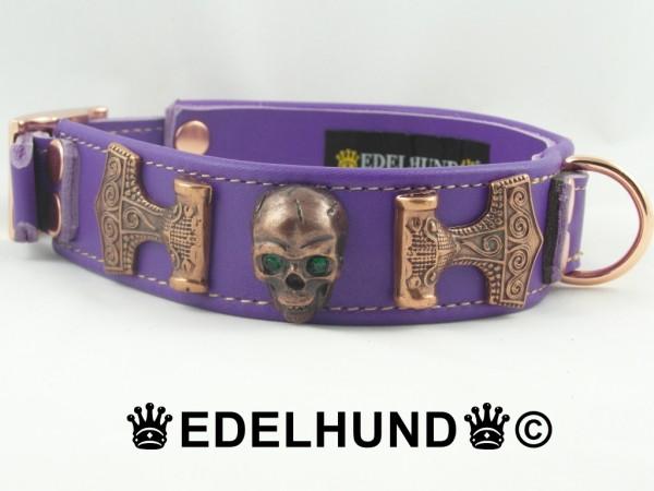 "Totenkopf Hundehalsband ""Copper Skull"""