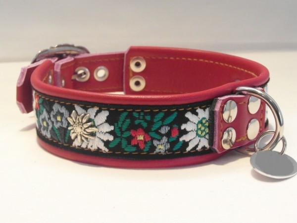 "Hundehalsband aus Leder Trachten ""Chiemgau"""
