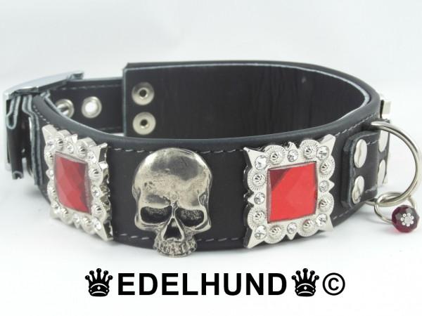 """Luxus Totenkopf Hundehalsband """"Luxury Goth"""""""