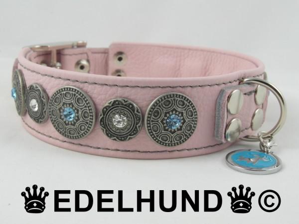 """Rosa Luxus Hundehalsband """"Babe"""""""