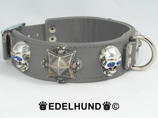 "Exklusives Hundehalsband aus Leder ""Goth"""