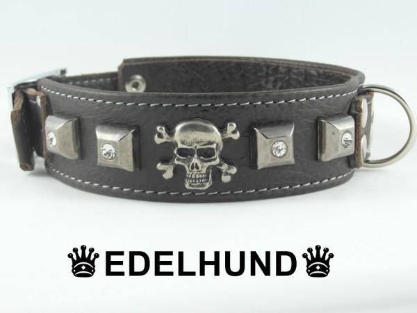 """Leder Hundehalsband """"Vintage Skull"""""""