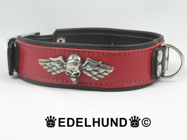 """Luxus Biker Hundehalsband aus Leder """"Rider"""""""